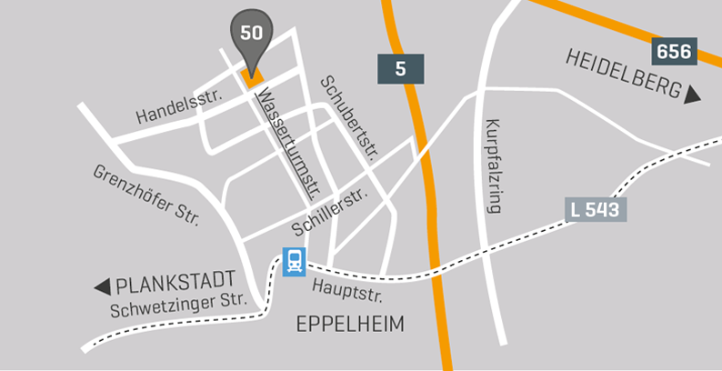 Information wo befindet sich unser Outlet-Store auf der Karte