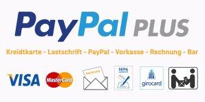 Bezahlen kannst Du bei uns mit PayPal, Kreditkarte, Lastschrift, in Bar u.v.m.!